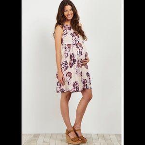 Pinkblush Maternity Pleated Dress